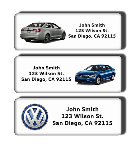 Volkswagon New & Classic Beetle Jetta Bus Cars Labels