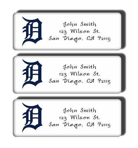 Detroit Tigers Labels