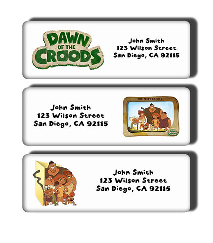 Dawn of the Croods Labels