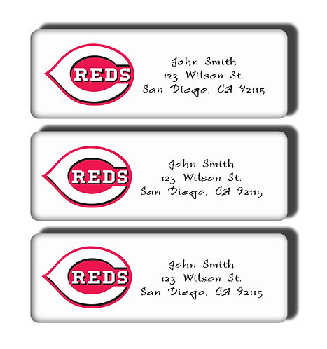 Cincinnati Reds Labels