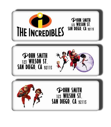 Incredibles Labels