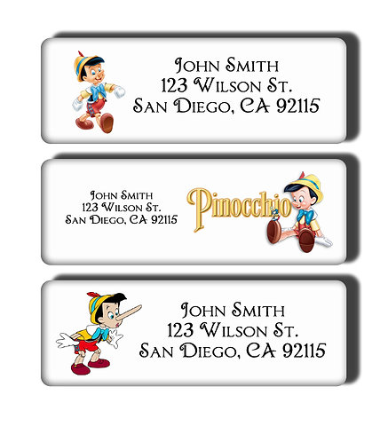 Pinocchio Labels