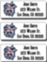 Patriots Superbowl Champions return address labels