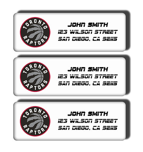 Toronto Raptors Labels