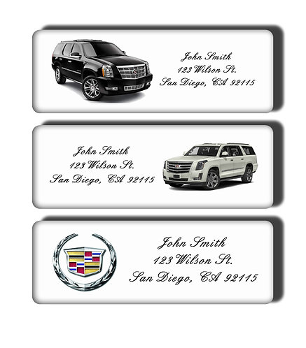 Cadillac Escalades & Classic Muscle Cars Labels
