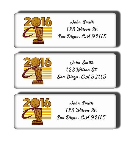 Cleveland Cavaliers - 2016 NBA Championship Labels