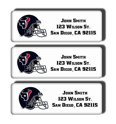Houston Texans Labels