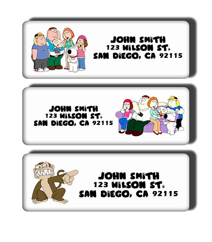 Family Guy Labels