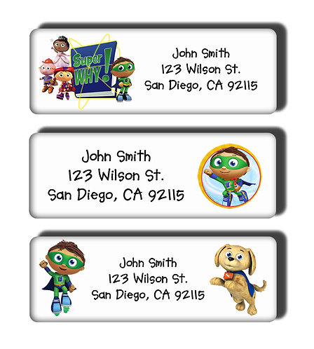 Super Why Labels