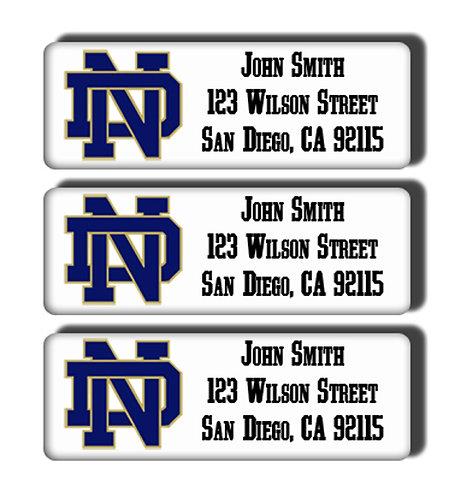 Notre Dame University Labels