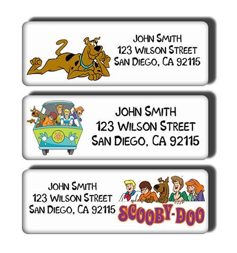 Scooby Doo Labels
