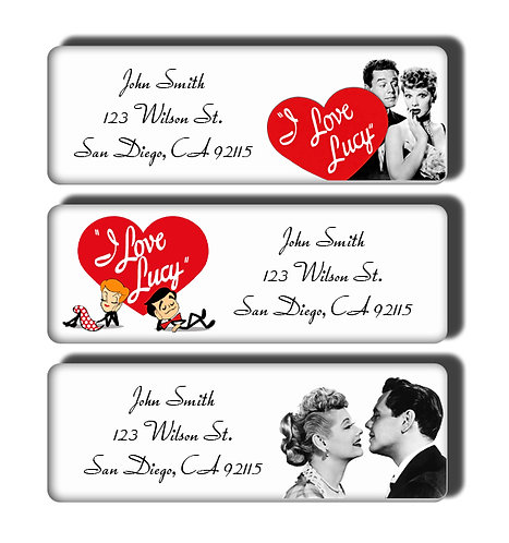 I Love Lucy Labels