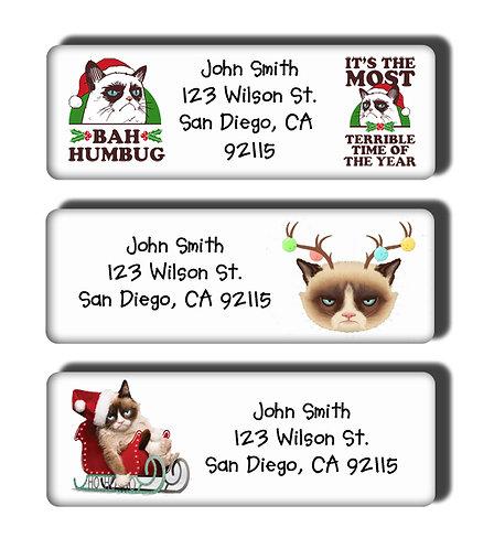 Grumpy Cat Christmas Labels