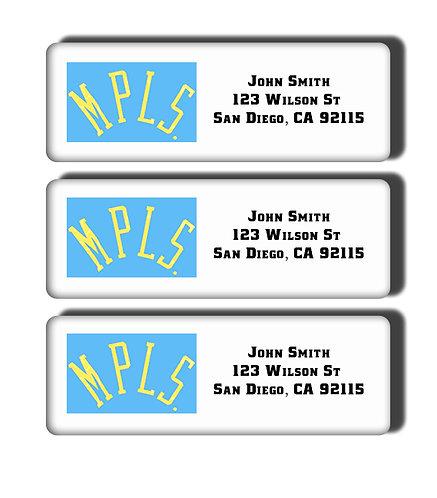 Minneapolis Lakers Labels