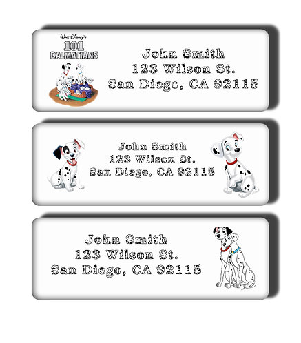 101 Dalmatians Labels