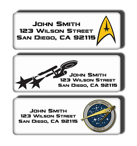 Star Trek Labels