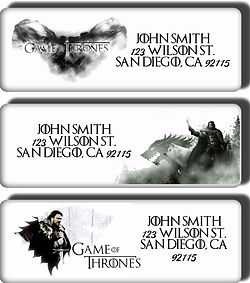 Game of Throne return address labels
