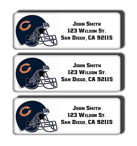 Chicago Bears Labels