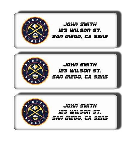 Denver Nuggets Labels
