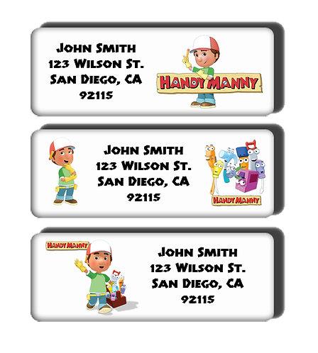 Handy Manny Labels