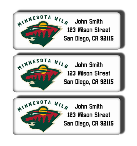 Minnesota Wild Labels