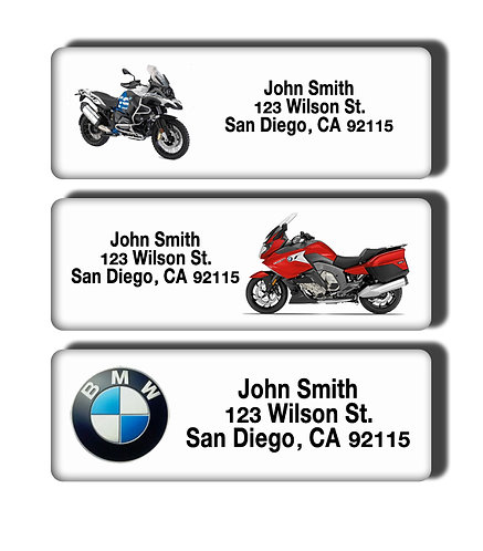 BMW Motorcycle Labels