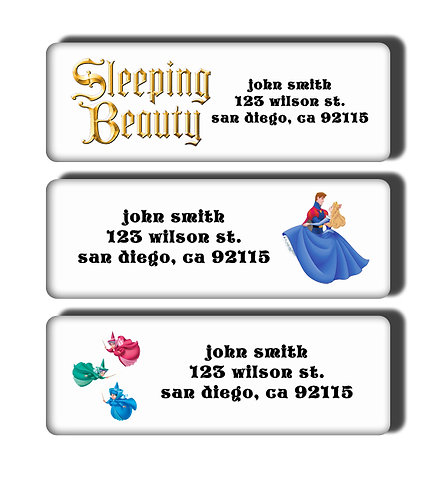 Sleeping Beauty Labels