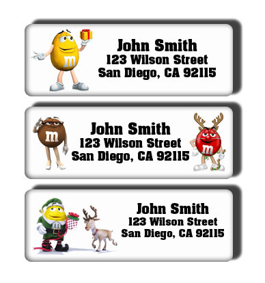 M&Ms Christmas Labels