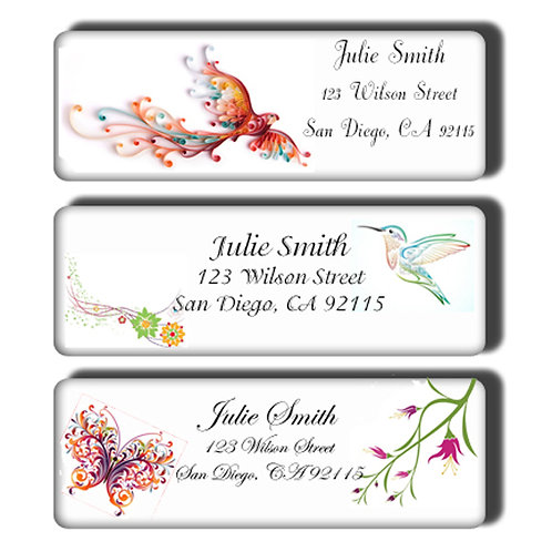Colorful Birds & Butterflies Customized Return Address Labels