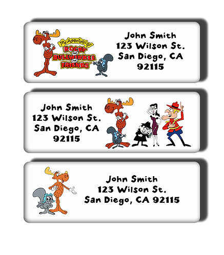 Rocky and Bullwinkle Labels