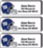 NY Giants return address labels