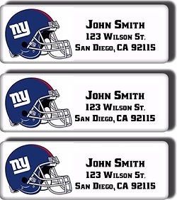 NY Giants return address labels