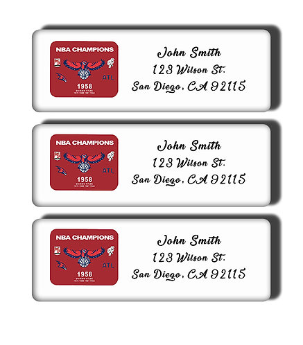 Atlanta Hawks - 1958 NBA Championship Labels