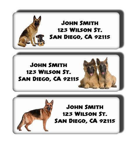 German Shepherd Labels