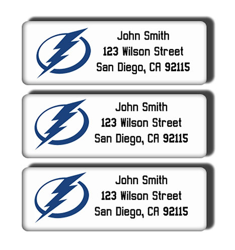 Tampa Bay Lightning Labels