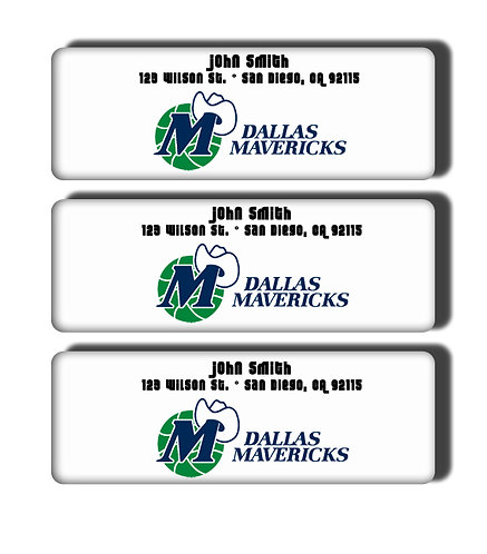 Dallas Mavericks Throwback Labels