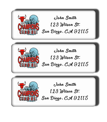 Chicago Bulls - 1991-1998 NBA Championship Labels