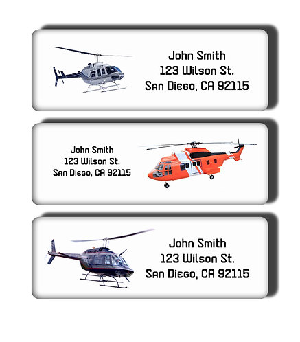 Helicopters Labels