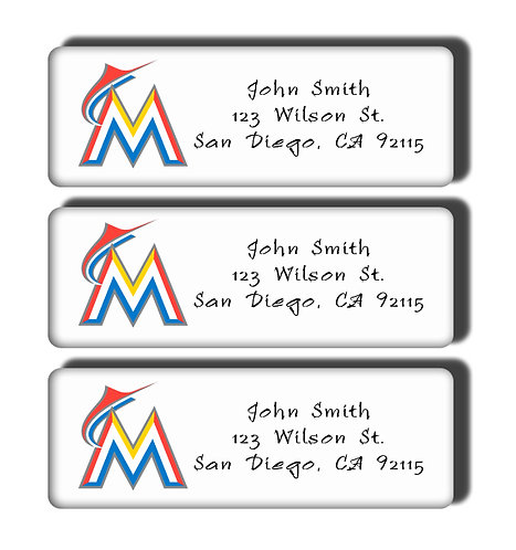 Miami Marlins Labels