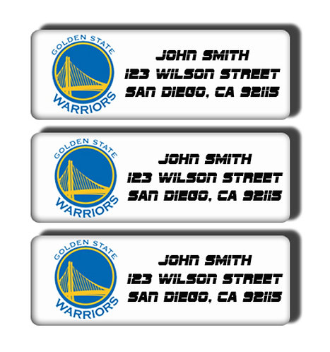 Golden State Warriors Labels