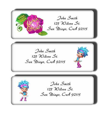 Luna Petunia Labels