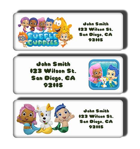 Bubble Guppies Labels