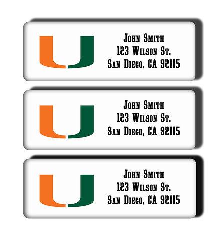 University of Miami Labels