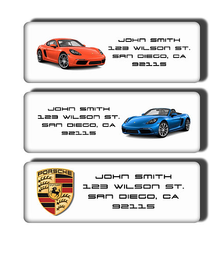 Porsche Cars Labels