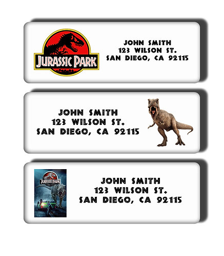 Jurassic Park Labels