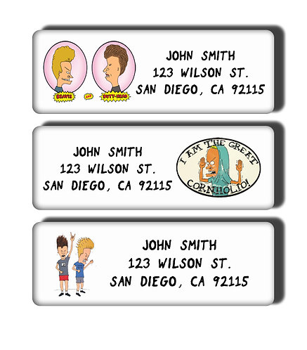 Beavis and Butthead Labels