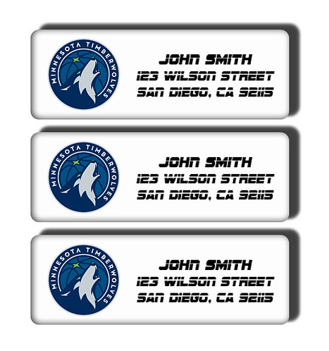 Minnesota Timberwolves Labels