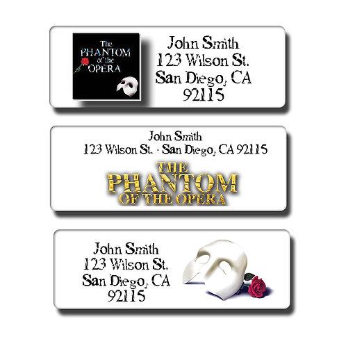 Phantom of the Opera Labels