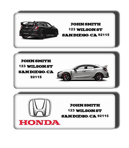 Honda Labels