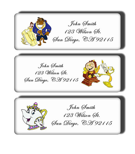 Beauty and the Beast Labels